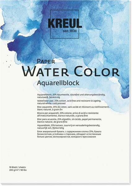 Bloc papier aquarelle - DIN A3, 10 feuilles