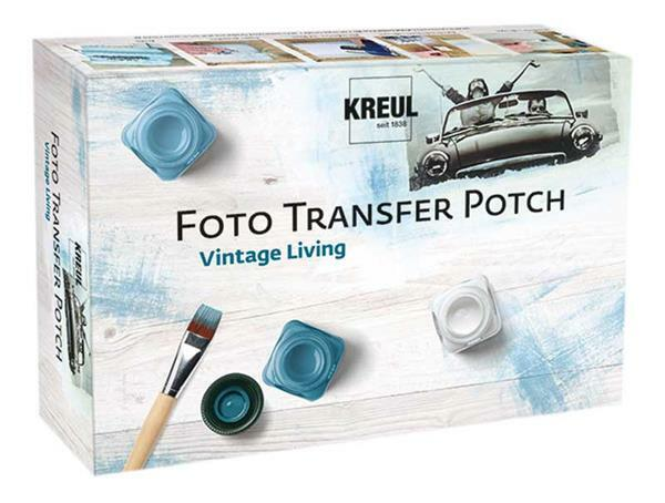 "Foto Transfer Potch set, ""Vintage Living"""