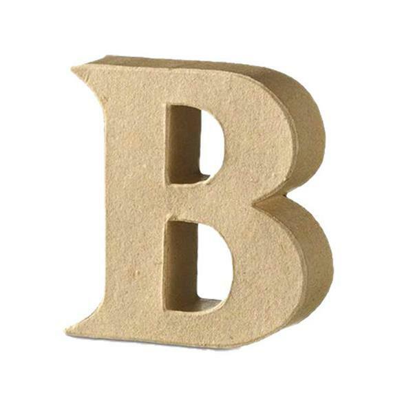 Papier-maché letter B