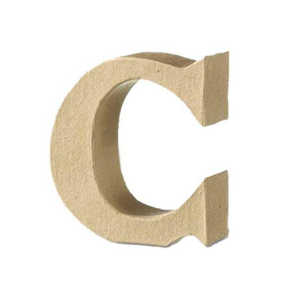 Papier-maché letter C