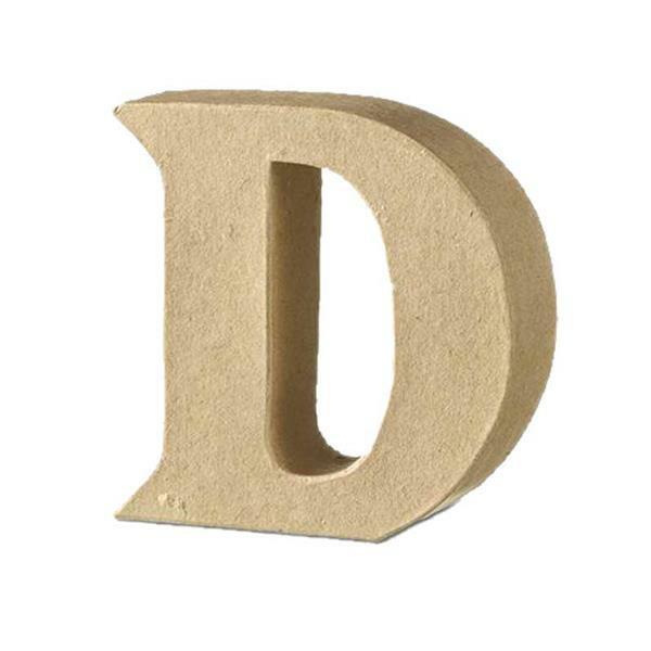 Papier-maché letter D