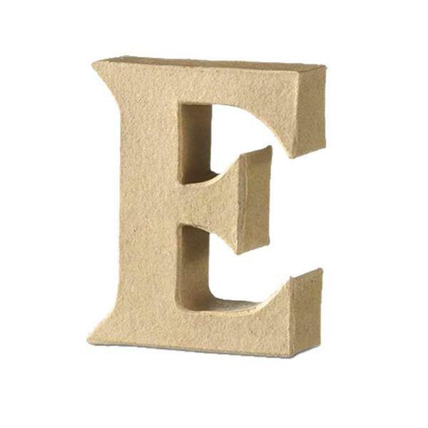 Lettre en papier mâché - E