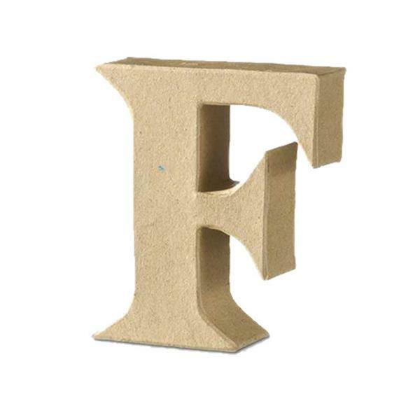 Lettre en papier mâché - F
