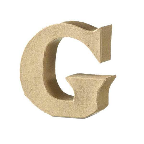 Papier-maché letter G