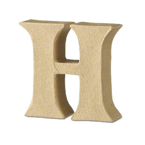 Lettre en papier mâché - H