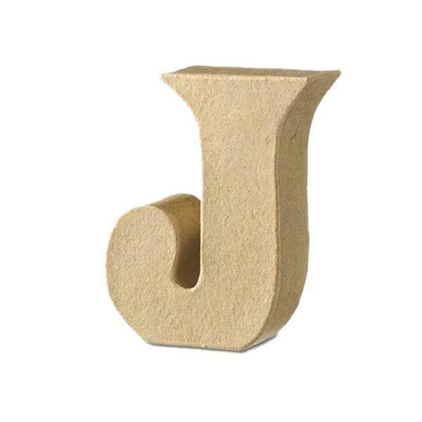 Papier-maché letter J