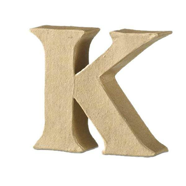 Papier-maché letter K