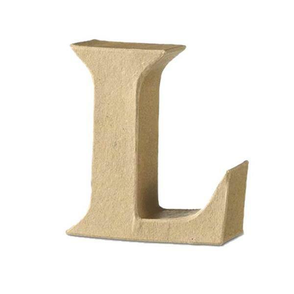 Papier-maché letter L