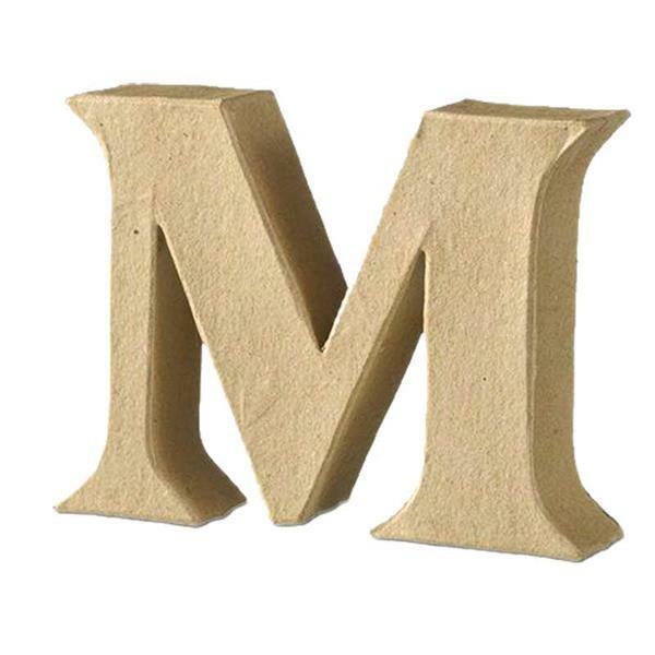Papier-maché letter M