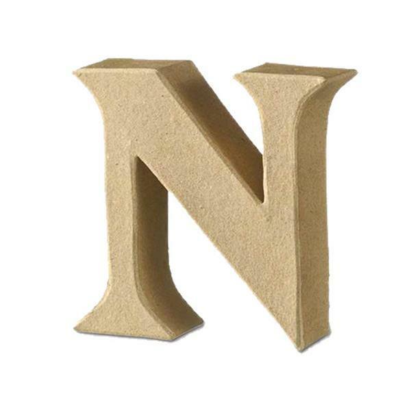 Papier-maché letter N