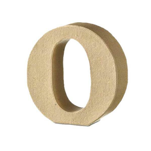 Papier-maché letter O