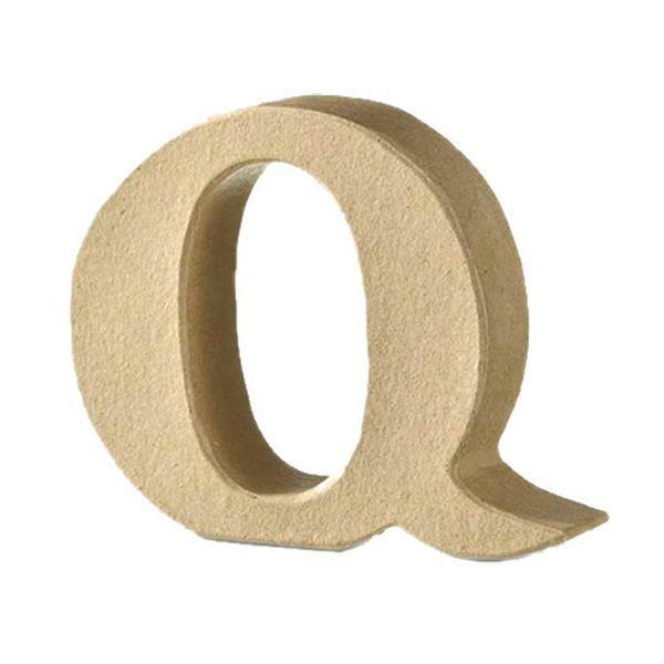 Papier-maché letter Q