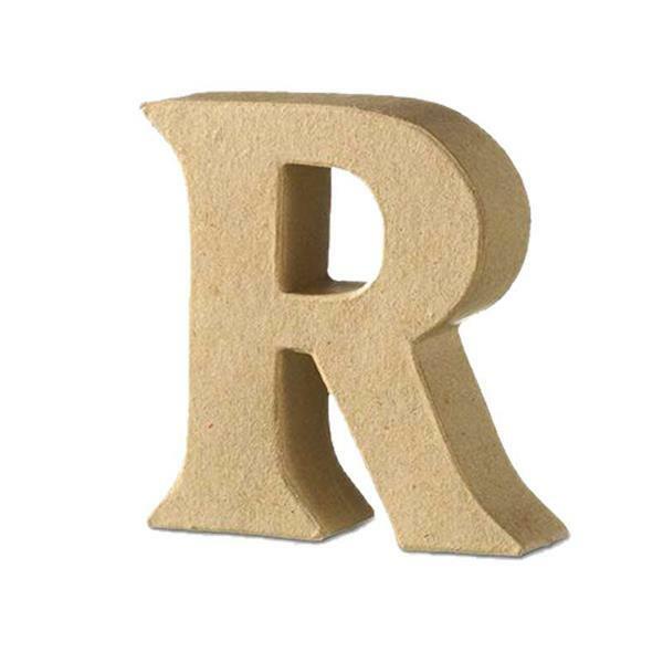 Papier-maché letter R
