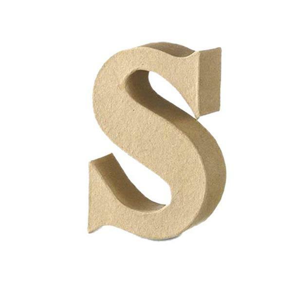 Papier-maché letter S