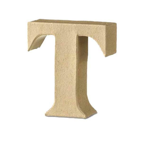 Papier-maché letter T