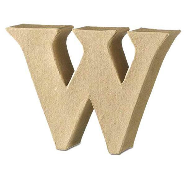 Papier-maché letter W