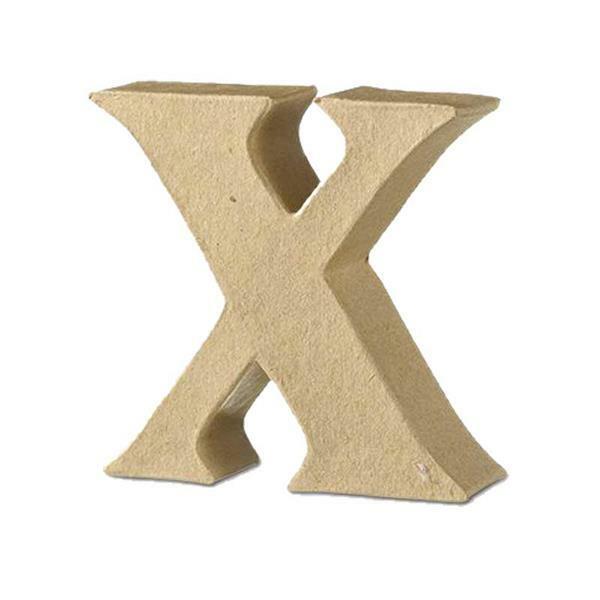 Papier-maché letter X