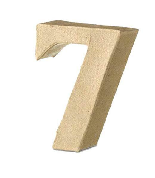 Pappmache Zahl 7