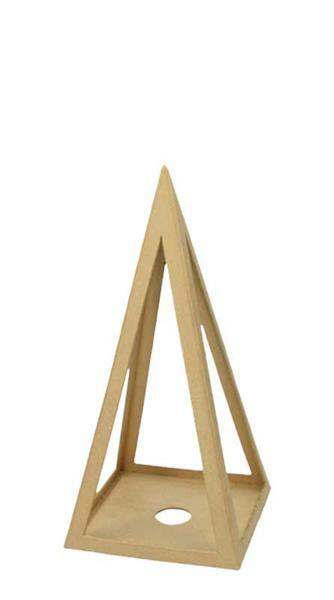 Pyramide en papier mâché, 25 cm