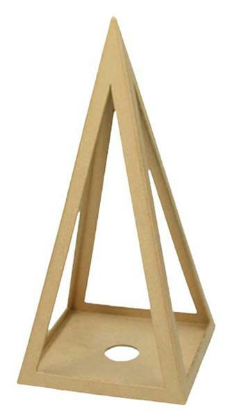 Pyramide en papier mâché, 31,5 cm
