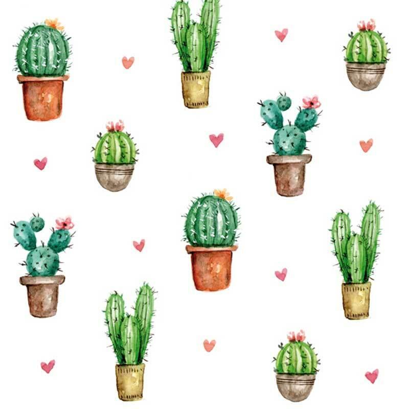 Serviettes - 20 pces, Cactus Love