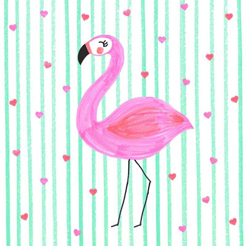 Serviettes - 20 pces, Flamingo