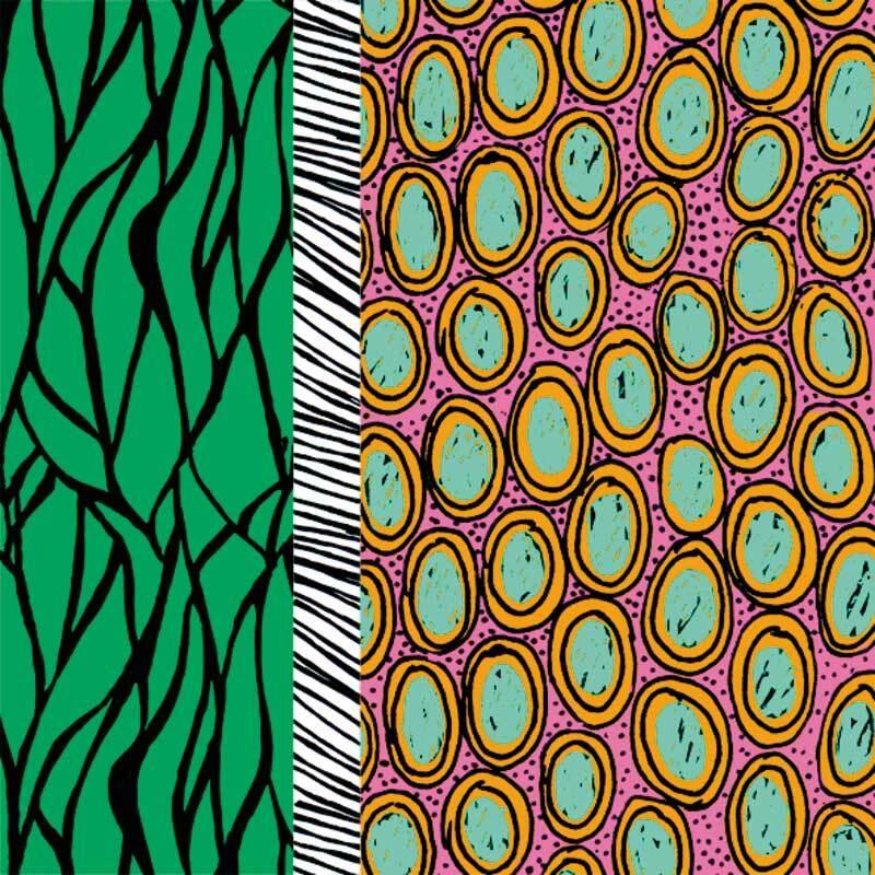 Servetten - 20 st./pak, Kenia groen