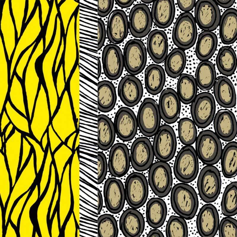 Serviettes - 20 pces, Kenya jaune