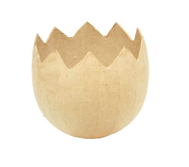 Papier-maché - eierschaal