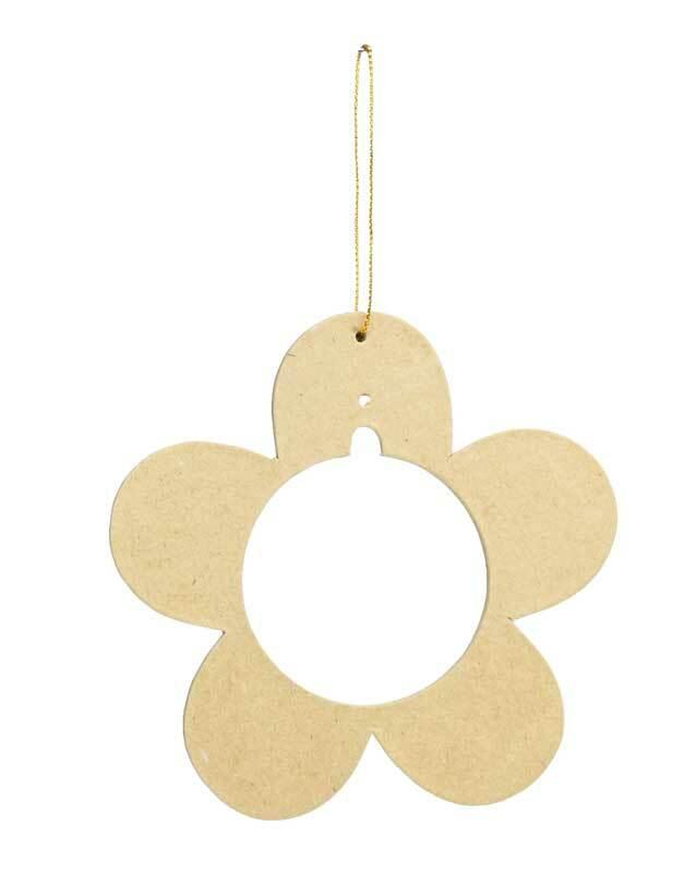 Papier-maché hanger voor kunststof bal, bloem