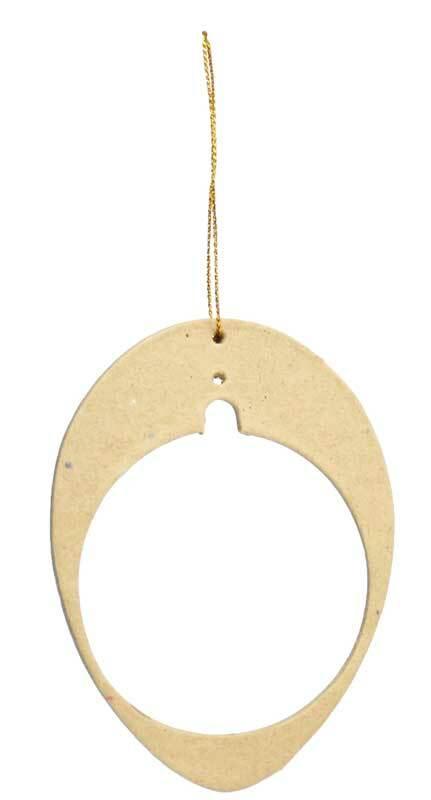 Papier-maché hanger voor kunststof bal, ei