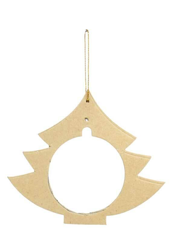 Pappmache Anhänger für Kunststoffkuggel, Baum