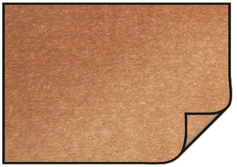 Parelmoerkarton - 10 st./pak, 50 x 70 cm, koper