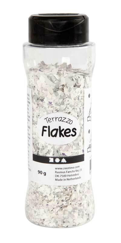 Terrazzo Flakes, lichtgrijs