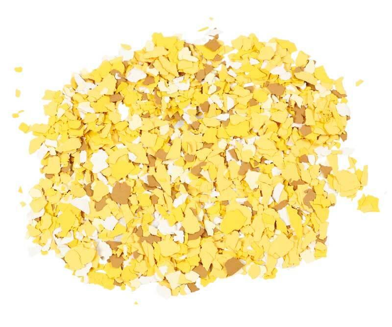 Terrazzo Flocken, gelb