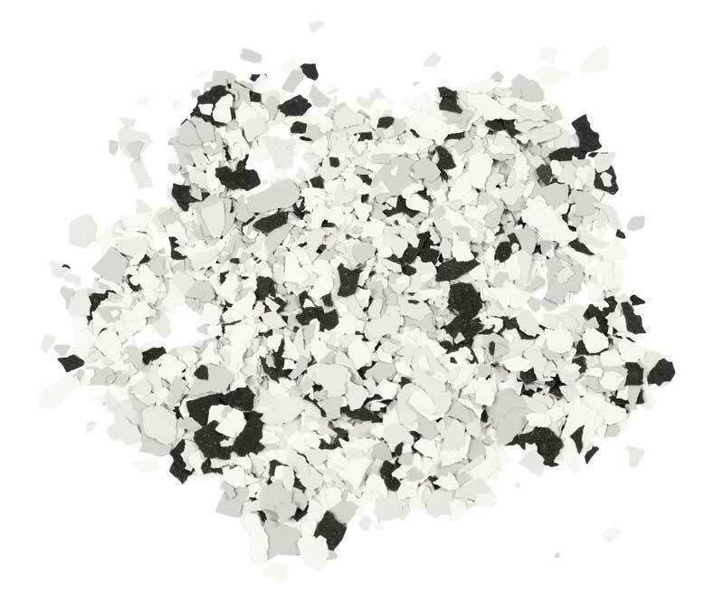 Terrazzo Flocken, schwarz