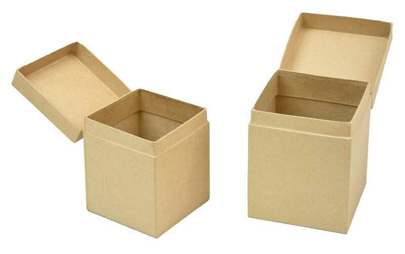 Papier-maché dozen - 2 stuks, 10 + 9 cm