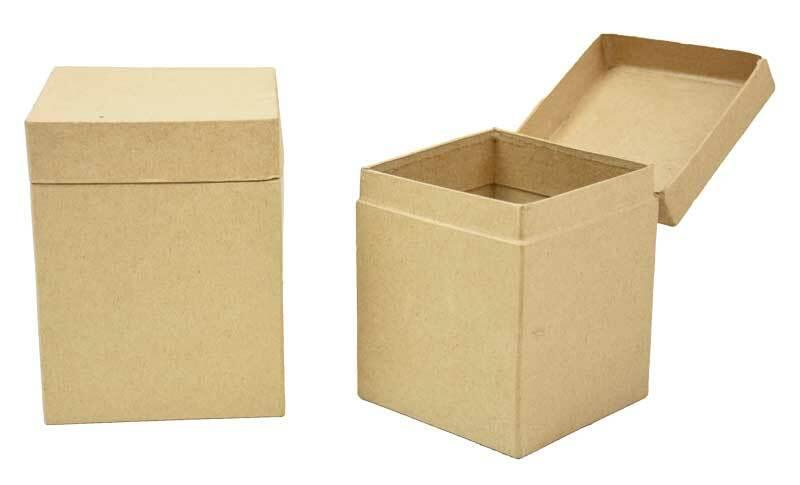 Boîtes en papier mâché - 2 pces, 10 + 9 cm