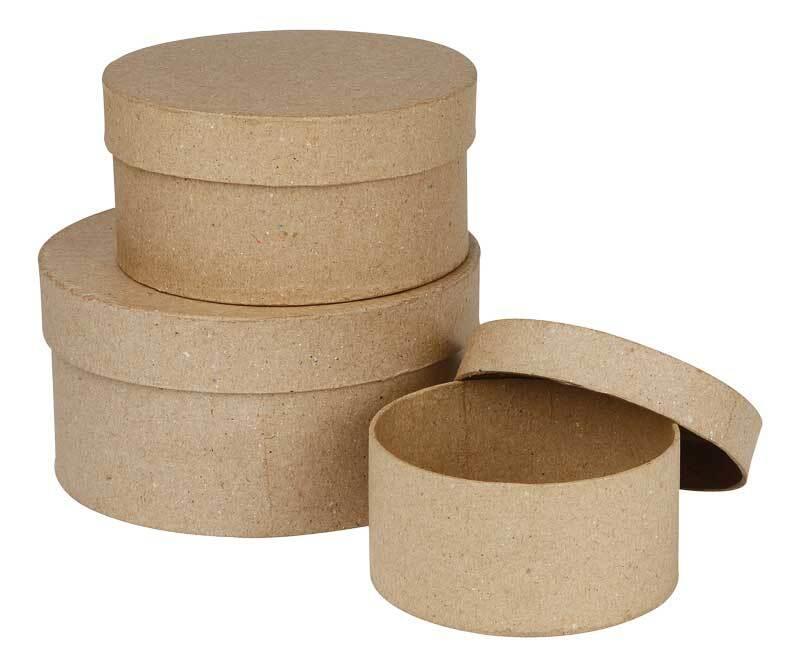 Pappmache Boxen, rund