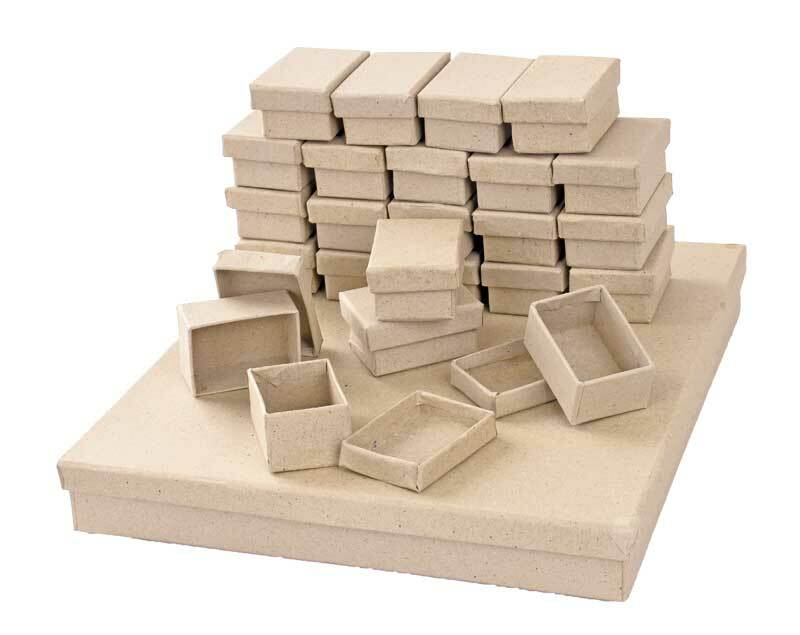 Boîtes en papier mâché - Set, 5 x 7 cm