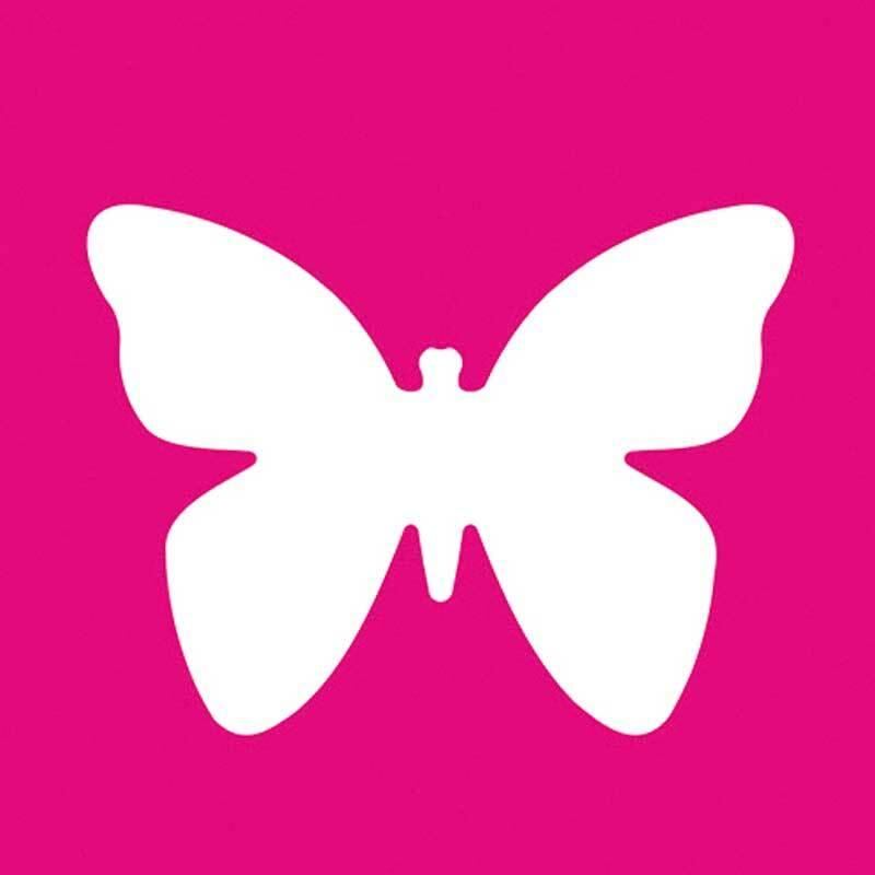 Motiefpons - vlinder XL