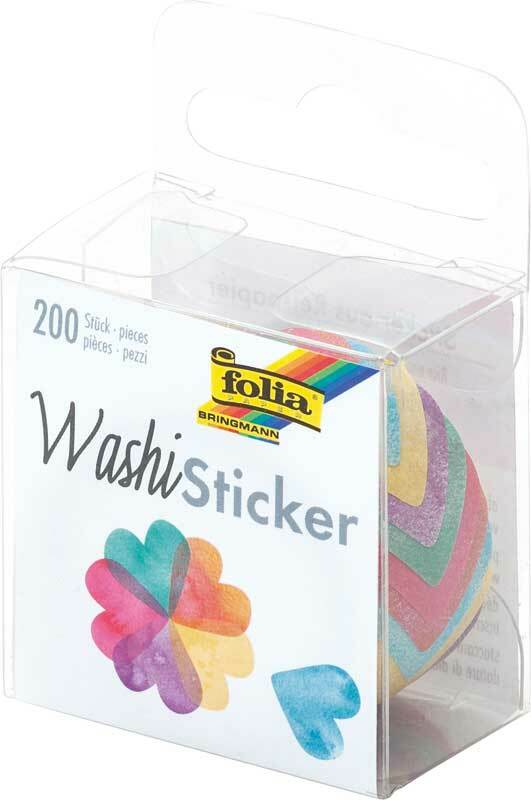 Washi stickers - hartjes