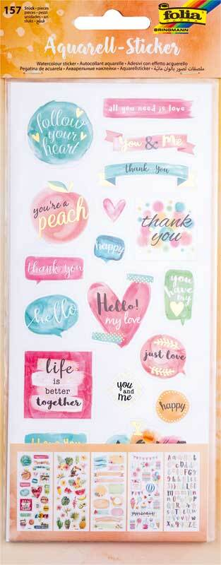 Set de stickers - Aquarelle