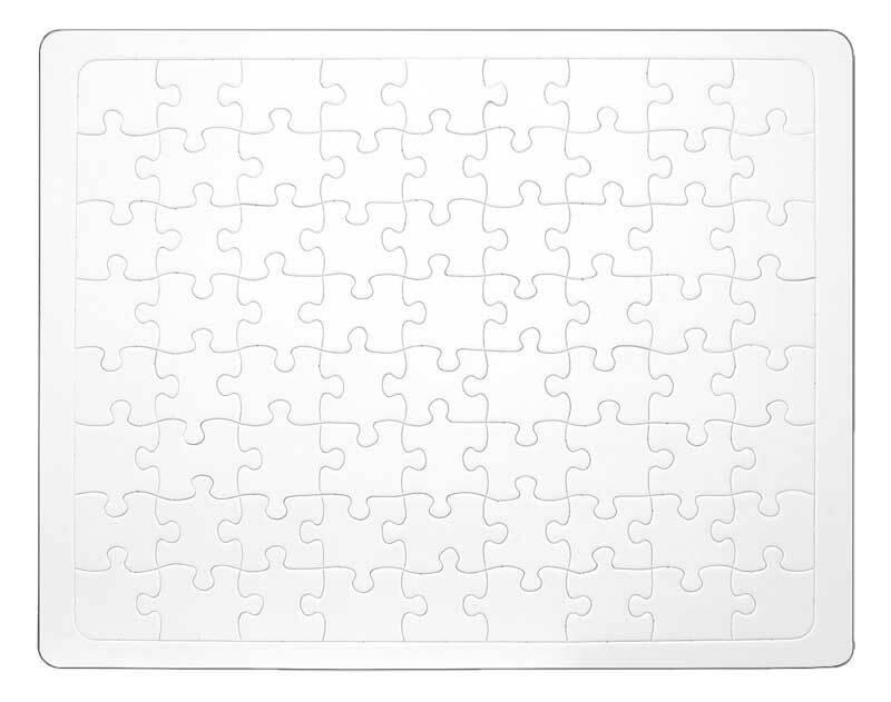 Blanco puzzel, DIN A3