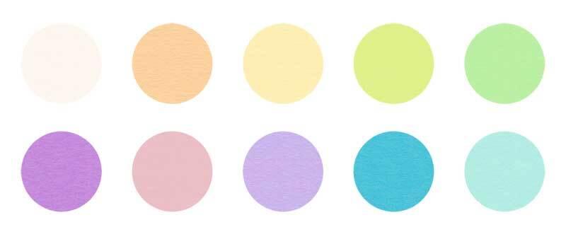 Vouwbladen - 100 vel/pak, Ø 15 cm, pastel