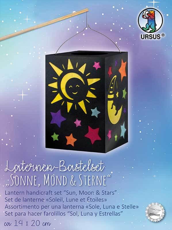 Lampion-knutselset, zon, maan & sterren