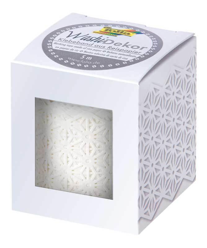 Washi Tape - Blüten, weiß