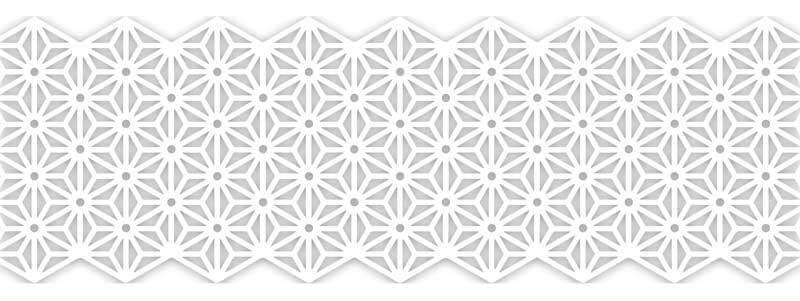 Motiv Klebeband - Blüten, weiß