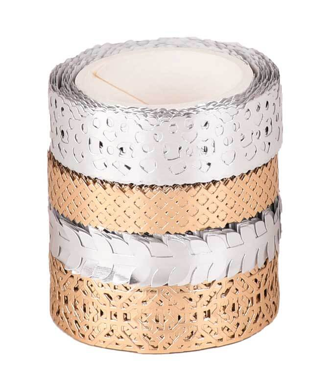 Set Washi Tape - hotfoil, argent/or