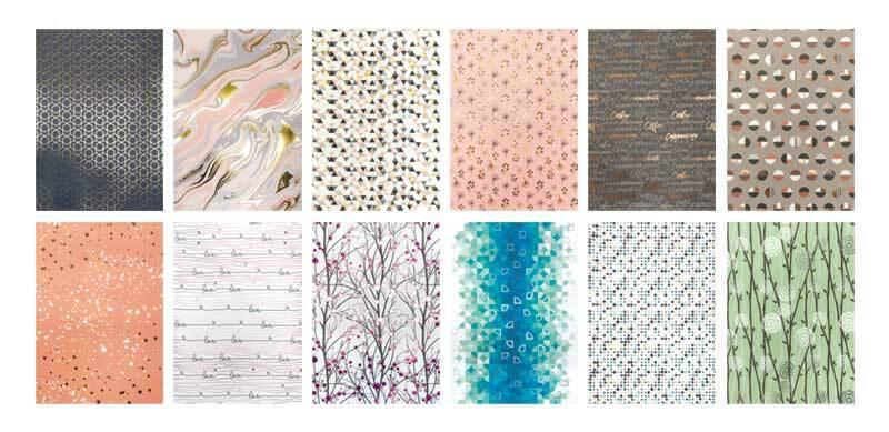 Design papier - Hot foil, patroon
